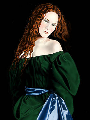 Desperate Digital Art - Lizzie Siddal by Andrew Harrison