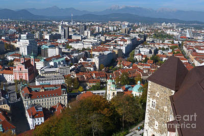 Photograph - Ljubljana From The Castle by Phil Banks