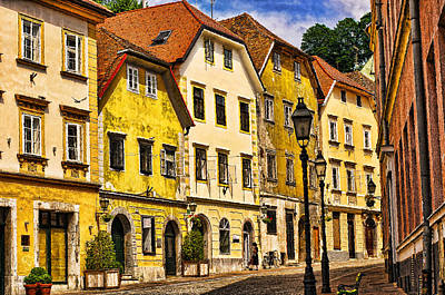 Ljubljana Landscape Art Print by Graham Hawcroft pixsellpix