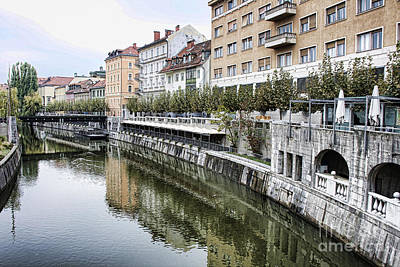 Photograph - Ljubljana River by Crystal Nederman