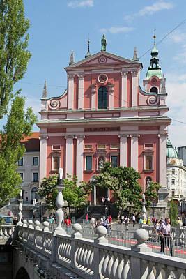 Ljubljana, Slovenia. Presernov Trg Or Art Print