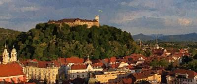 Painting - Ljubljana Slovenia by Samuel Majcen