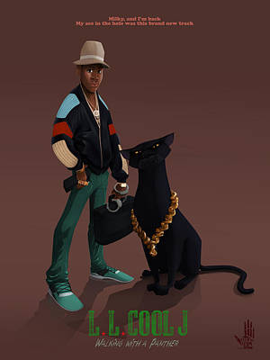 Panther Digital Art - Ll Cool J by Nelson Dedos Garcia