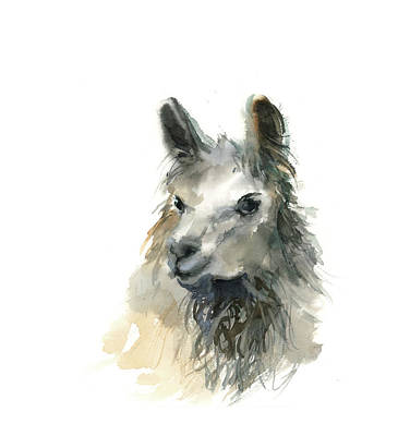 Llamas Painting - Llama II by Sophia Rodionov