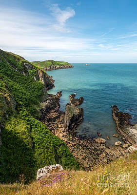 Wales Digital Art - Llanbadrig Coastline by Adrian Evans