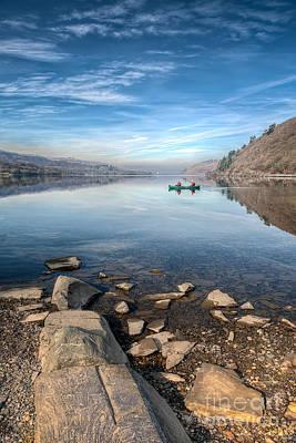 Canoe Photograph - Llanberis Lake by Adrian Evans