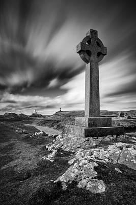Crosses Photograph - Llanddwyn Island by Dave Bowman