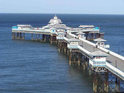 Print featuring the photograph Llandudno Pier by Christopher Rowlands