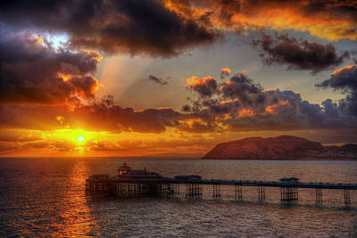 Wall Art - Photograph - Llandudno Pier Sunrise by Mal Bray
