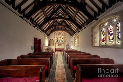 Religious Stain Glass Photograph - Llandysilio Traean by Adrian Evans