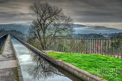 Aqueduct Digital Art - Llangollen Canal  by Adrian Evans