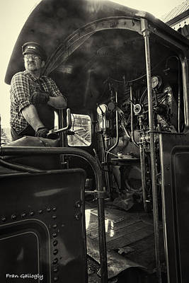 Photograph - Llangollen Railroad Engineer by Fran Gallogly