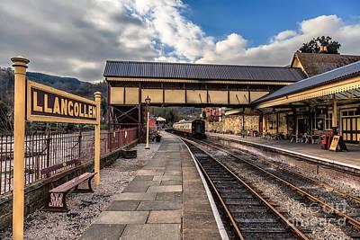 Rail Digital Art - Llangollen Railway Station by Adrian Evans