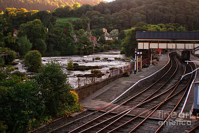 Photograph - Llangollen Steam Train Station In Wales by Doc Braham