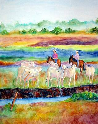 Painting - llanos Cowboys by Patricia Beebe