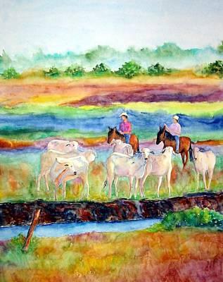 Painting - llanos Cowboys by Patricia Beebe