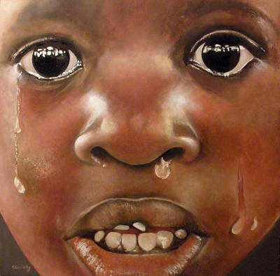 Crying Boy Painting - Llanto by Tomas Castano