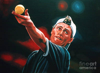 Action Portrait Painting - Lleyton Hewitt 2  by Paul Meijering