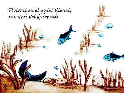 Barcelona Drawing - Llibre De Poesia En Llengua Catalana - Mabel Gual by Arte Venezia