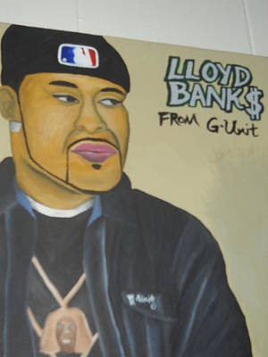 Painting - Lloyd Banks by Brandon Crawford