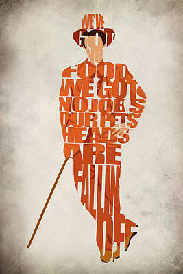 Typographic Digital Art - Lloyd Christmas by Inspirowl Design
