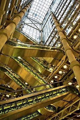 Mechanism Photograph - Lloyds Of London Interior by Mark Williamson