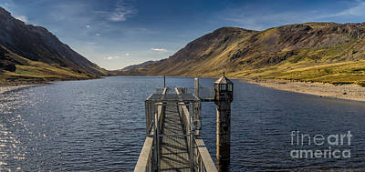 Tower Digital Art - Llyn Cowlyd Reservoir by Adrian Evans