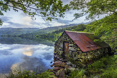 Llyn Gwynant Boathouse Art Print