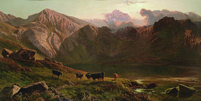North Wales Painting - Llyn Idwal, North Wales by Sidney Richard Percy