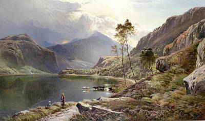 North Wales Painting - Llyn-y-ddinas North Wales by Sidney Richard Percy