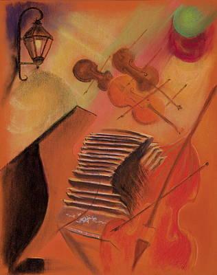 Bandoneon Wall Art - Pastel - Lo De Celia by Jocelyn Paine