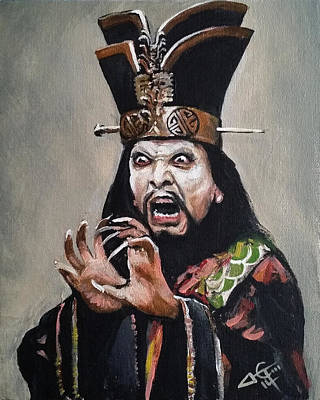 Trouble Painting - Lo Pan by Tom Carlton