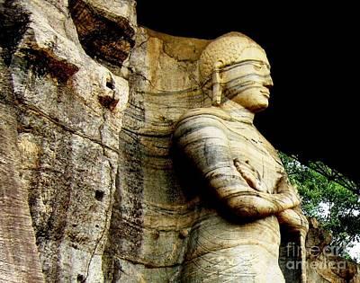 Ancient City Photograph - Load Buddha-standing Statue-gal Viharaya Polonnaruwa by Surendra Silva