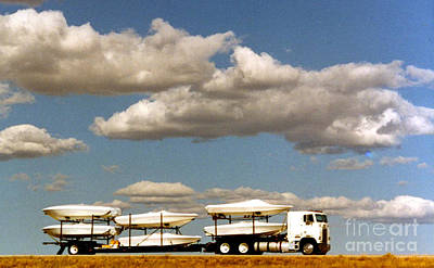Photograph - Loaded Truck In The Clouds by Phyllis Kaltenbach