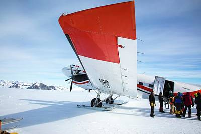 Loading An Aircraft In Antarctica Print by Peter J. Raymond