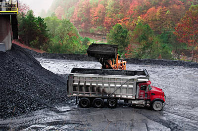 Photograph - Loading The Coal Truck by Mary Almond