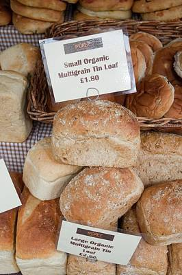 Local Food Photograph - Loaves Of Organic Bread by Ashley Cooper