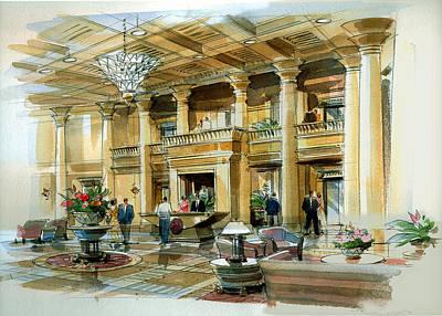 Lobby Concept Atlanta Art Print by Jack Adams