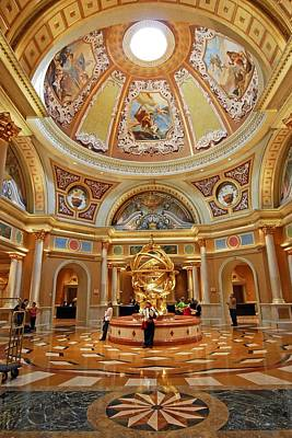 Photograph - Lobby Of The Venetian Hotel  Las Vegas by Willie Harper