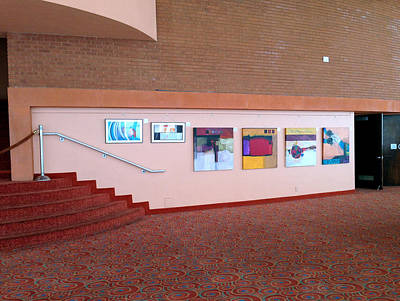 Photograph - Lobby Wall Asu Gammage by Marlene Burns