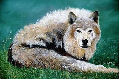 Lobo Art Print by Jean Yves Crispo