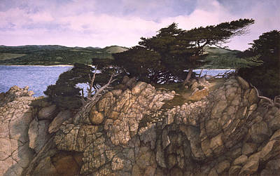 Lobos Lookout Print by Tom Wooldridge
