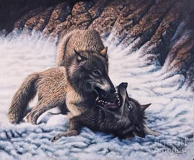 Lobos Art Print by Ricardo Chavez-Mendez