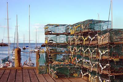Lobstah Traps Art Print by Joann Vitali