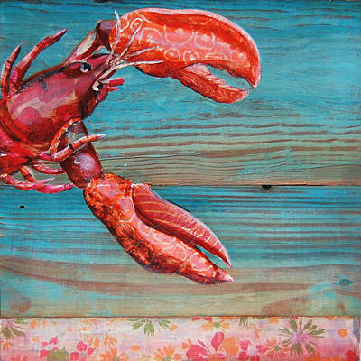Lobster Claw Mixed Media - Lobster Blissque by Danny Phillips
