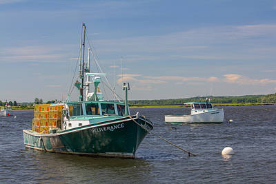 Autumn Pies - Lobster Boat Deliverance  by Kirkodd Photography Of New England