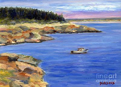 Lobster Boat In Jonesport Maine Art Print by Pamela Parsons