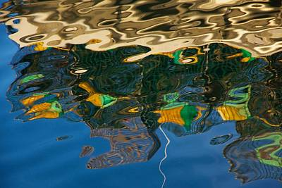 Photograph - Lobster Boat Reflection Abstract by Stuart Litoff