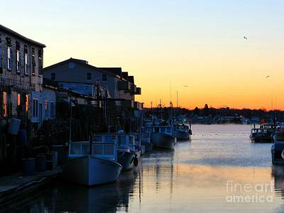 Photograph - Lobster Boat Wharf Sunrise by Christine Stack