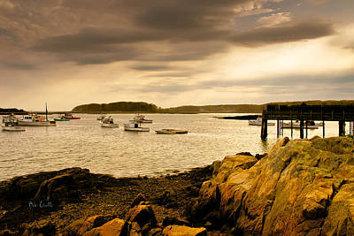 Photograph - Lobster Boats Cape Porpoise Maine by Bob Orsillo